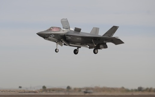 Tactically limited F-35B landing