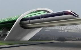MagLev rail link